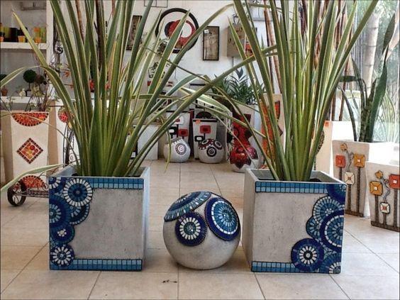 Macetas de mosaico para tu jardín